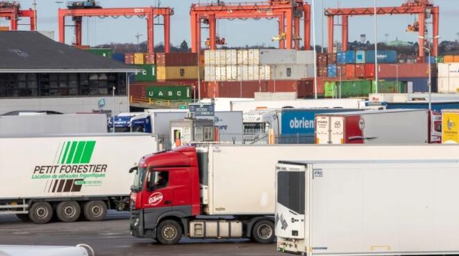 爱尔兰和英国之间84%的货运现在绿色运输